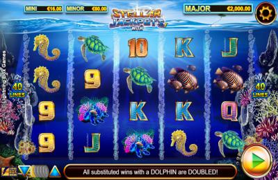 Dolphin Gold with Stellar Jackpots Slot Machine