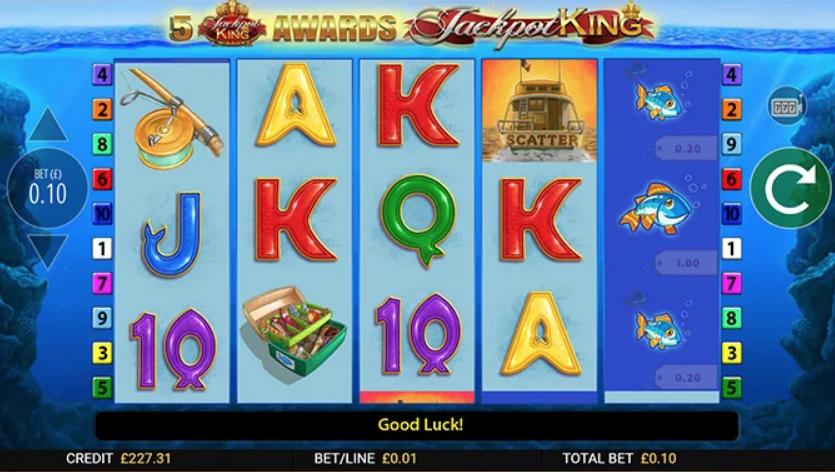 Fishin Frenzy Jackpot King Slot Machine
